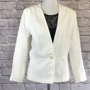BR Outlet off white linen blazer size 12